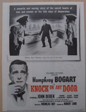 Knock On Any Door (1949) - Humphrey Bogart | Vintage Trade Ad